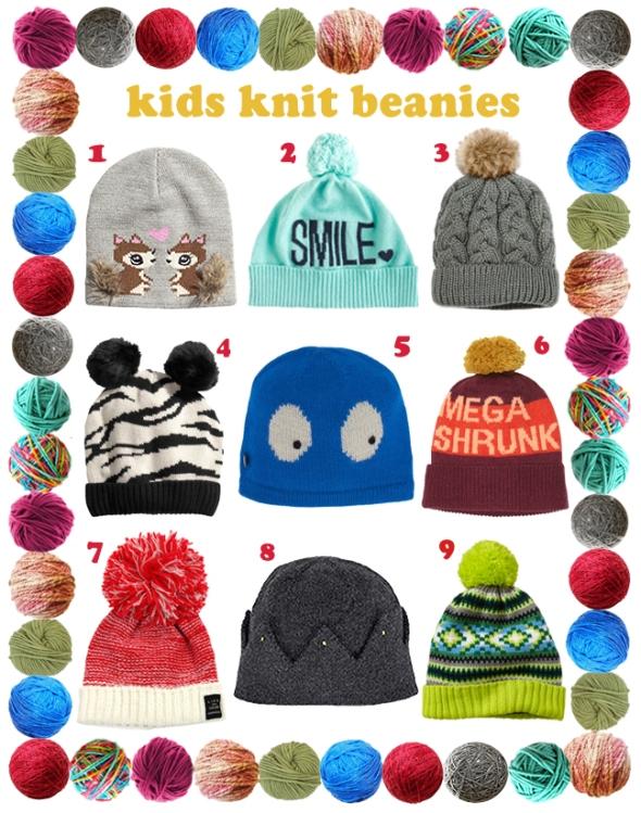 Kids Knit Beanies