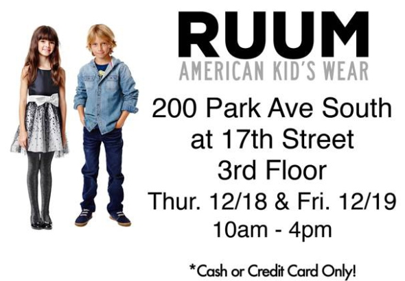 RUUM Sample Sale
